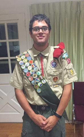 Charlie earns Eagle Scout Rank